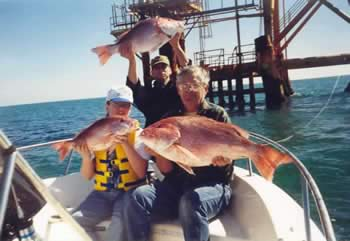 Galveston and Freeport Texas offshore fishing charters in the Gulf of Mexico